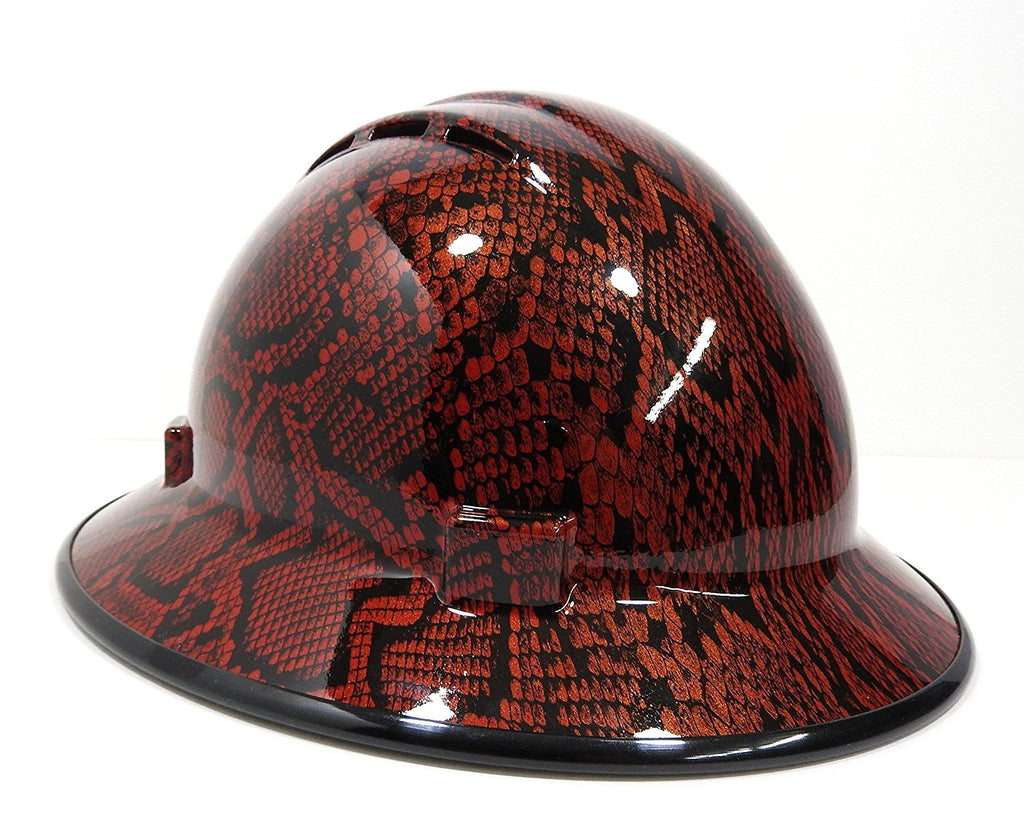 Hardhatgear Custom Vented Fb Hard Hat In Python Hard Hat