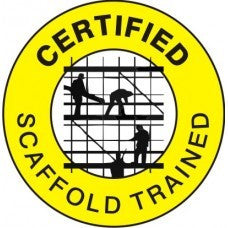 CERTIFIED SCAFFOLD TRAINED HARD HAT STICKER