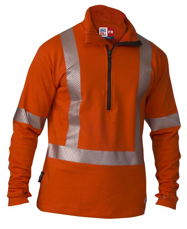 Big Bill Hi Vis FR 1/4 Zip Pullover