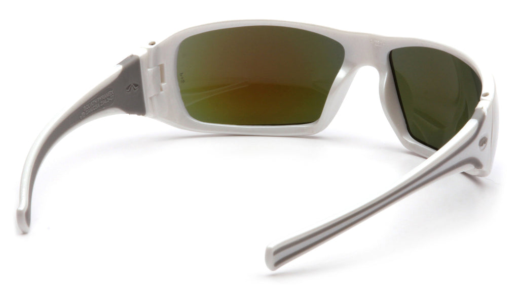 Pyramex Goliath White Frame Ice Blue Safety Glasses #SW5665D