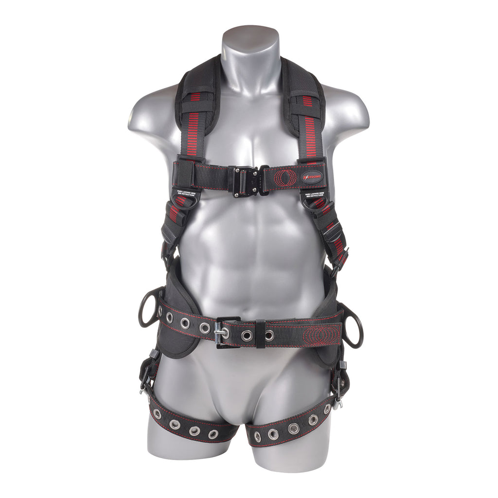 KStrong® Kapture™ Epic 5-Point Full Body Harness, Padded, 3 D-Rings, QC Chest, TB Legs (ANSI)