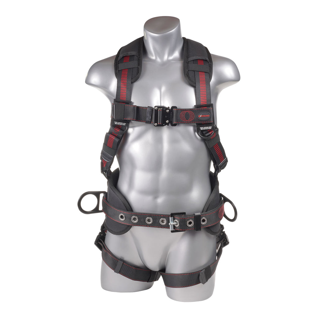 KStrong® Kapture™ Epic 5-Point Full Body Harness, Padded, 3 D-Rings, QC Chest and Legs (ANSI)