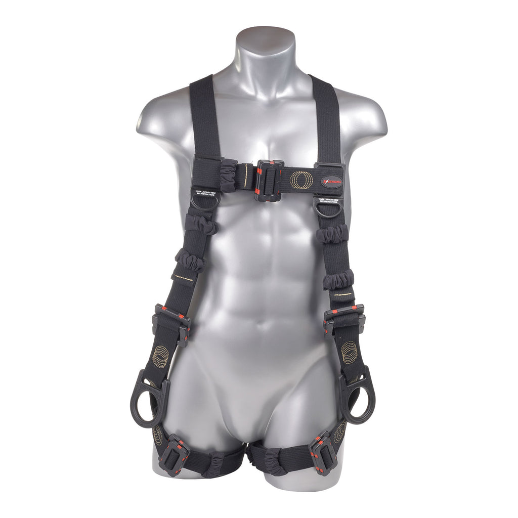 KStrong® Kapture™ Element Arc Flash Rated 5-Point Full Body Harness, 3 D-rings, Mating Buckle Legs and Chest (ANSI)