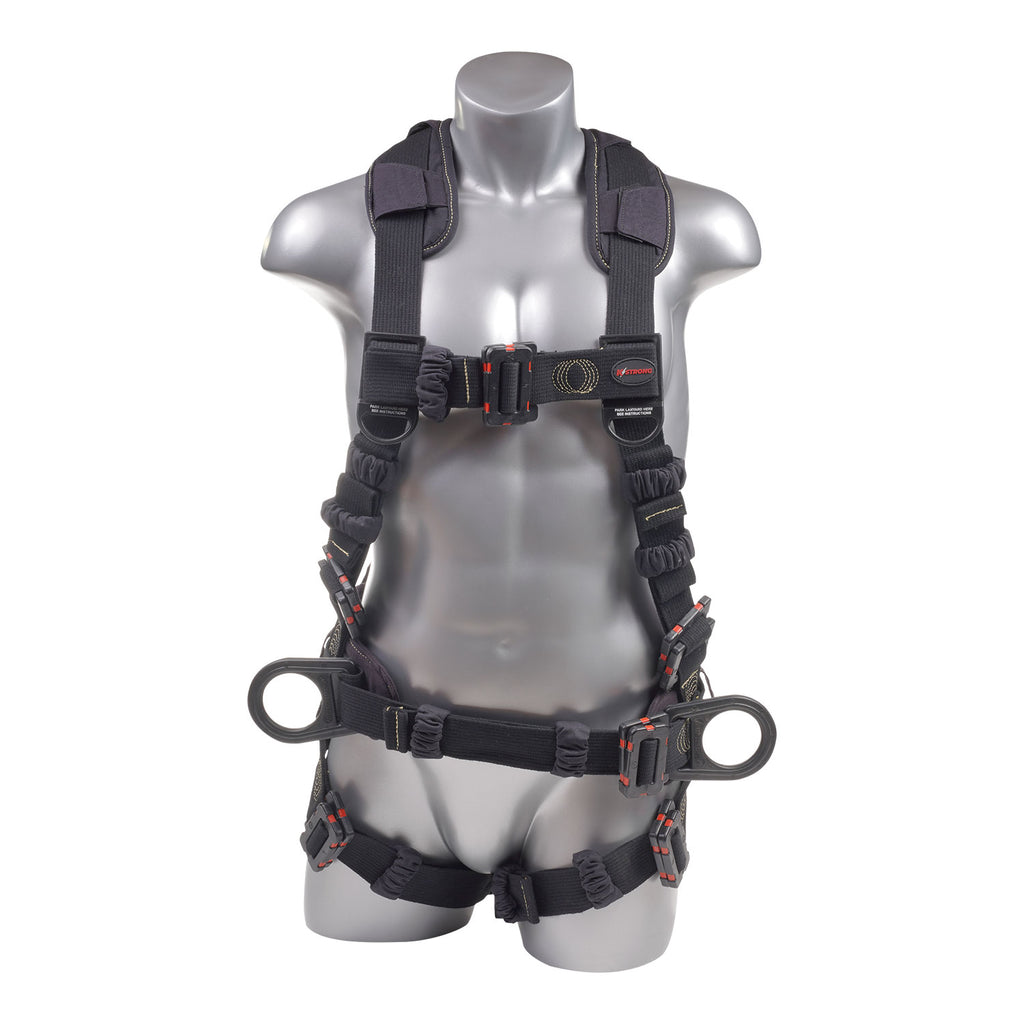 KStrong® Kapture™ Element Arc Flash Rated 5-Point Full Body Harness Padded with Belt, 3 D-rings, Mating Buckle Legs and Chest (ANSI)