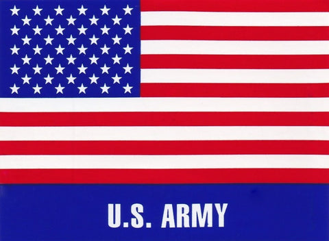 'U.S. Army' American Flag Hard Hat Sticker