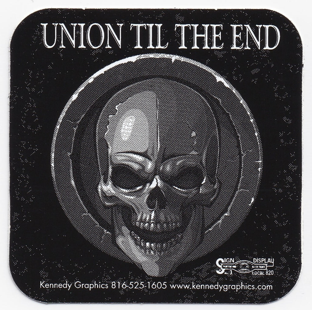Union Til the End Skull stickers K6