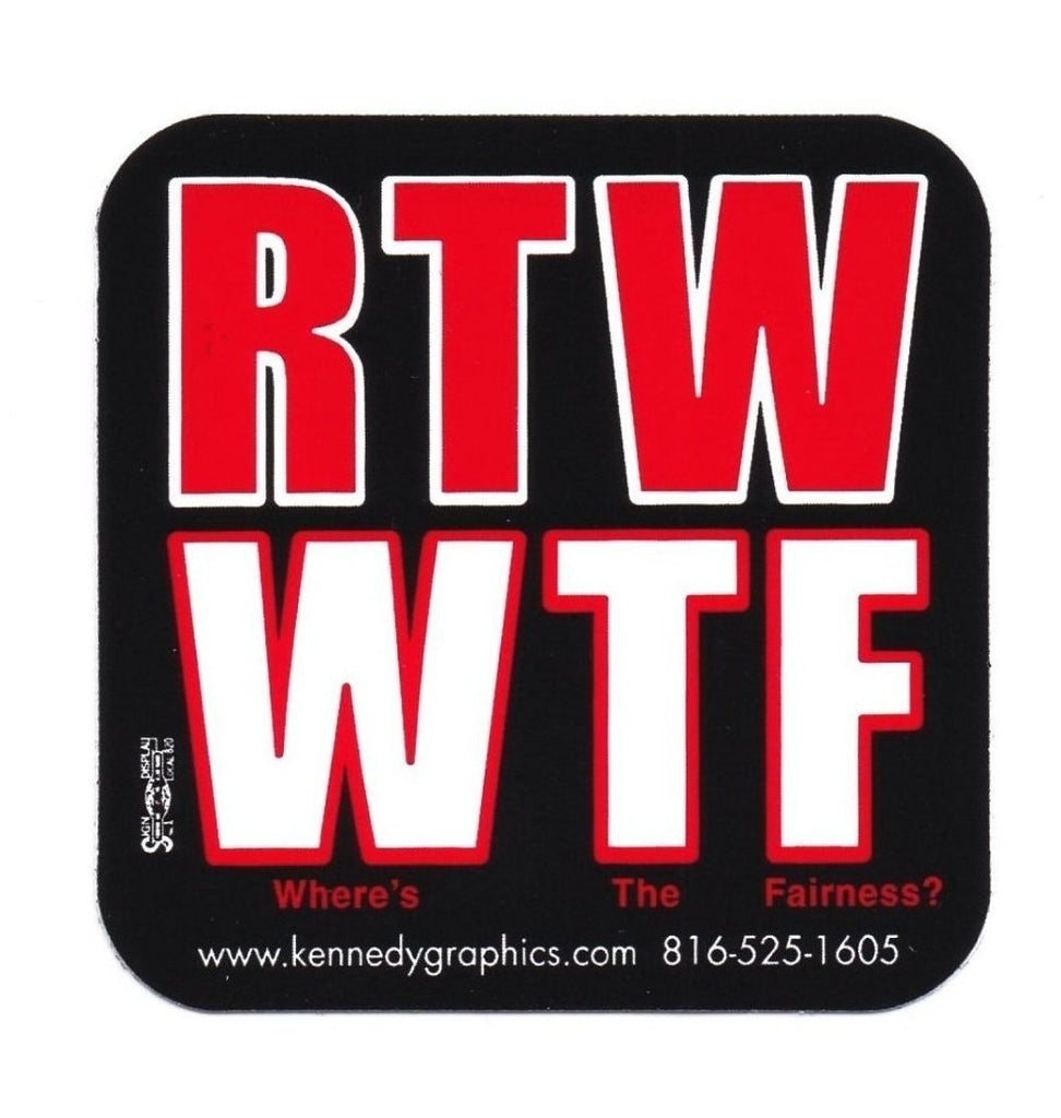 RTW/WTF Hard Hat Sticker #S110