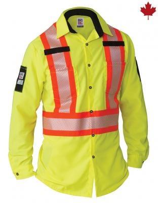 Big Bill Ripstop Hi-Vis Long Sleeve Shirt  #144HVP