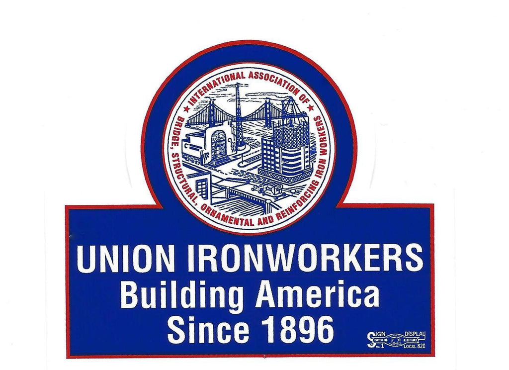Union Ironworkers Building America LARGE Decal #BLU02