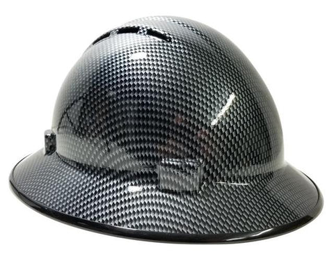 e4e0e918ad5 HHG Custom Hydo-Dipped Vented Full Brim Hard Hat  Carbon Fiber