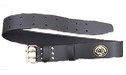 "2"" Leather Double Buckle Belt by Hardhatgear"