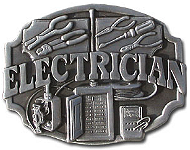Electrician Pewter Belt Buckle