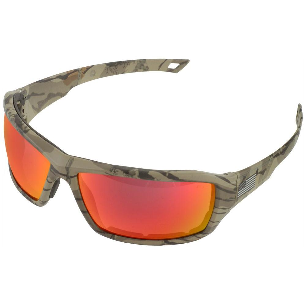 ERB One Nation Live Free Camo Revo Red Safety Glasses #18043