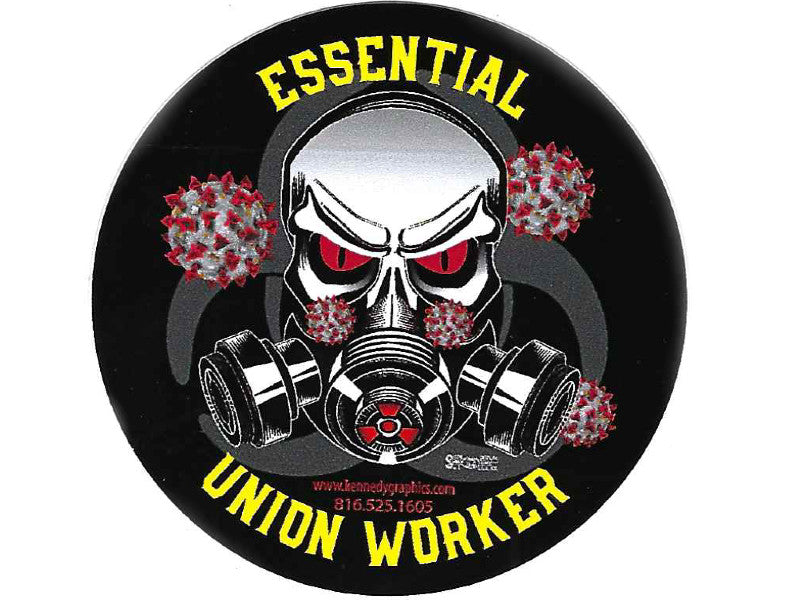 Essential Union Worker Hard Hat Sticker