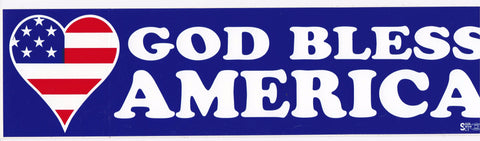 'God Bless America Bumper' Sticker #B314