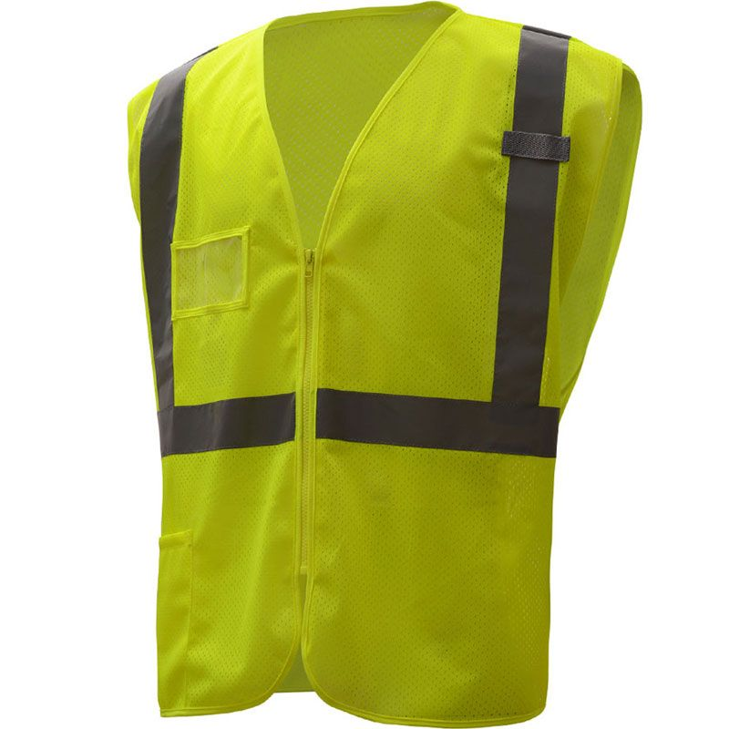 GSS Safety Class 2 Hi-Vis Mesh Safety Vest with ID Pocket #1009/1010