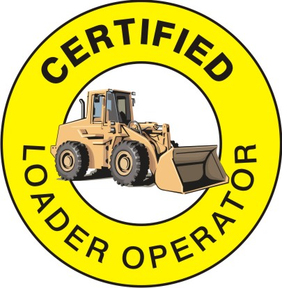 CERTIFIED LOADER OPERATOR HARD HAT MARKER