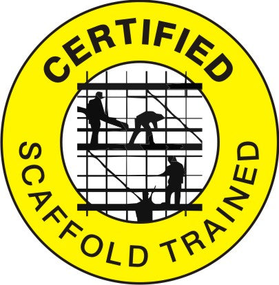 CERTIFIED SCAFFOLD TRAINED HARD HAT MARKER