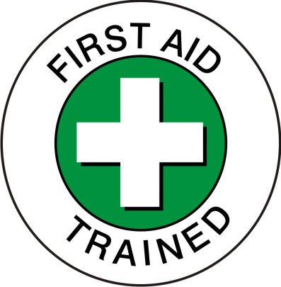 FIRST AID TRAINED HARD HAT MARKER