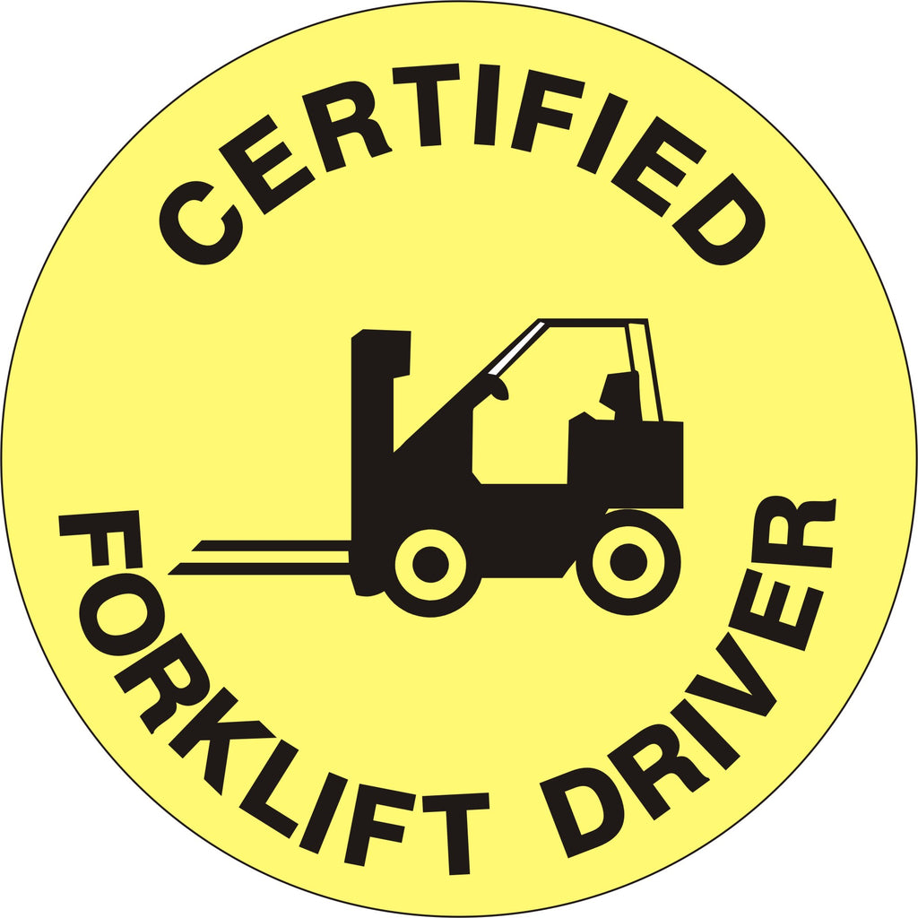 CERTIFIED FORKLIFT DRIVER WITH FORKLIFT HARD HAT MARKER HM-96
