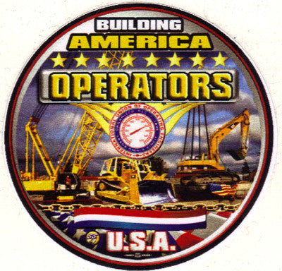 Operatoring  (IUOE) Truck Window Decal