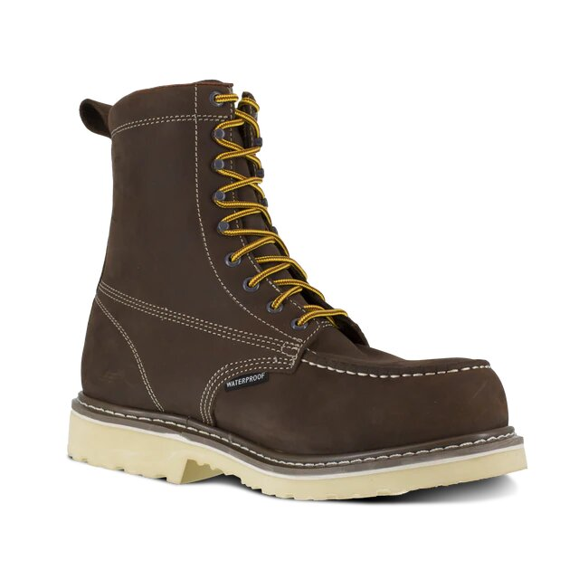 Iron Age Solidifier Mens Brown 8 Waterproof Work Boot IA5082