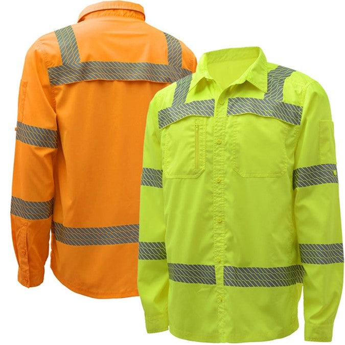 GSS Class 3 Lightweight Rip Stop Button Down Shirt With SPF 50