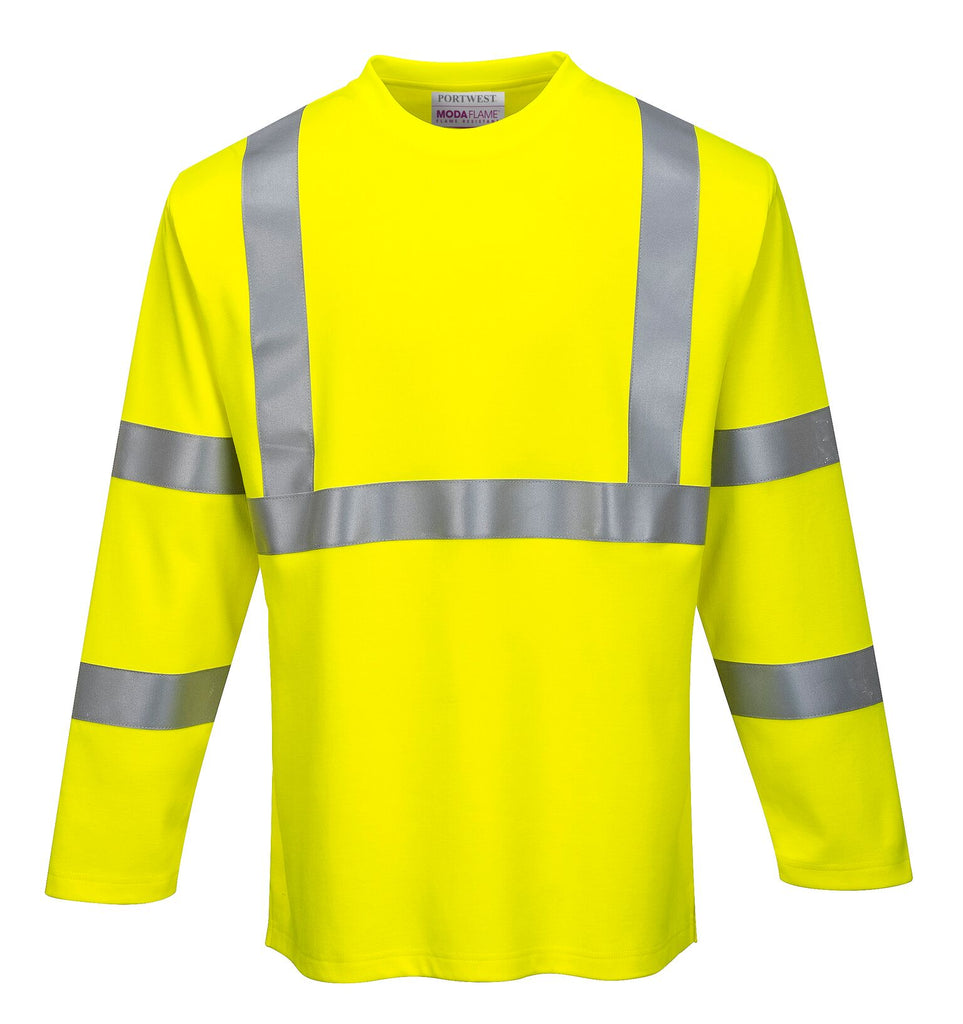 Portwest FR Hi-Vis Long Sleeve T-Shirt FR96 **NEW**
