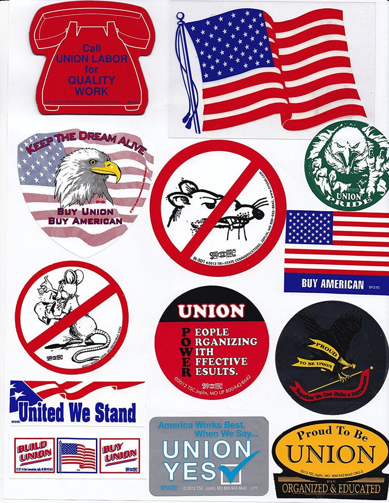 Union Hard Hat Sticker Mix 4 - 'The Thrifty 13'