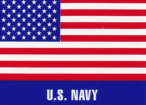 'U.S. Navy' American Flag Hard Hat Sticker