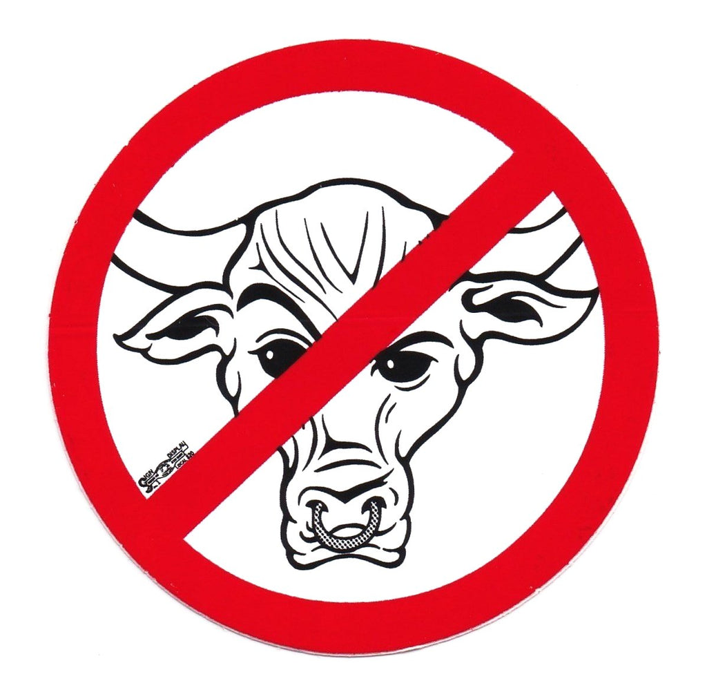 No Bull Hard Hat Sticker