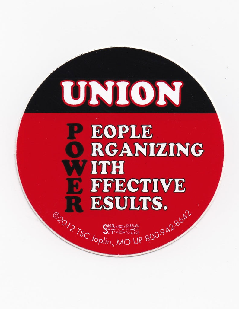 'Union Power' Hard Hat Sticker #T83
