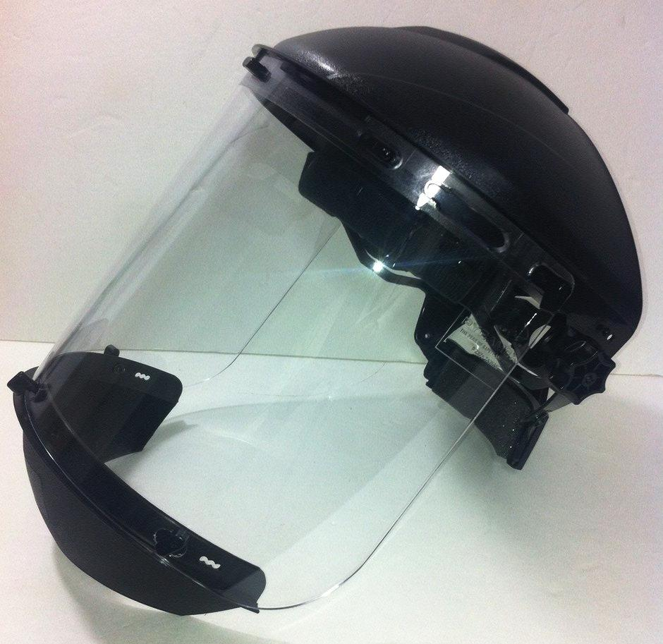 MOLDED FACESHIELD W/CHIN CUP