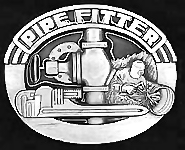 Pipefitter Pewter belt buckle