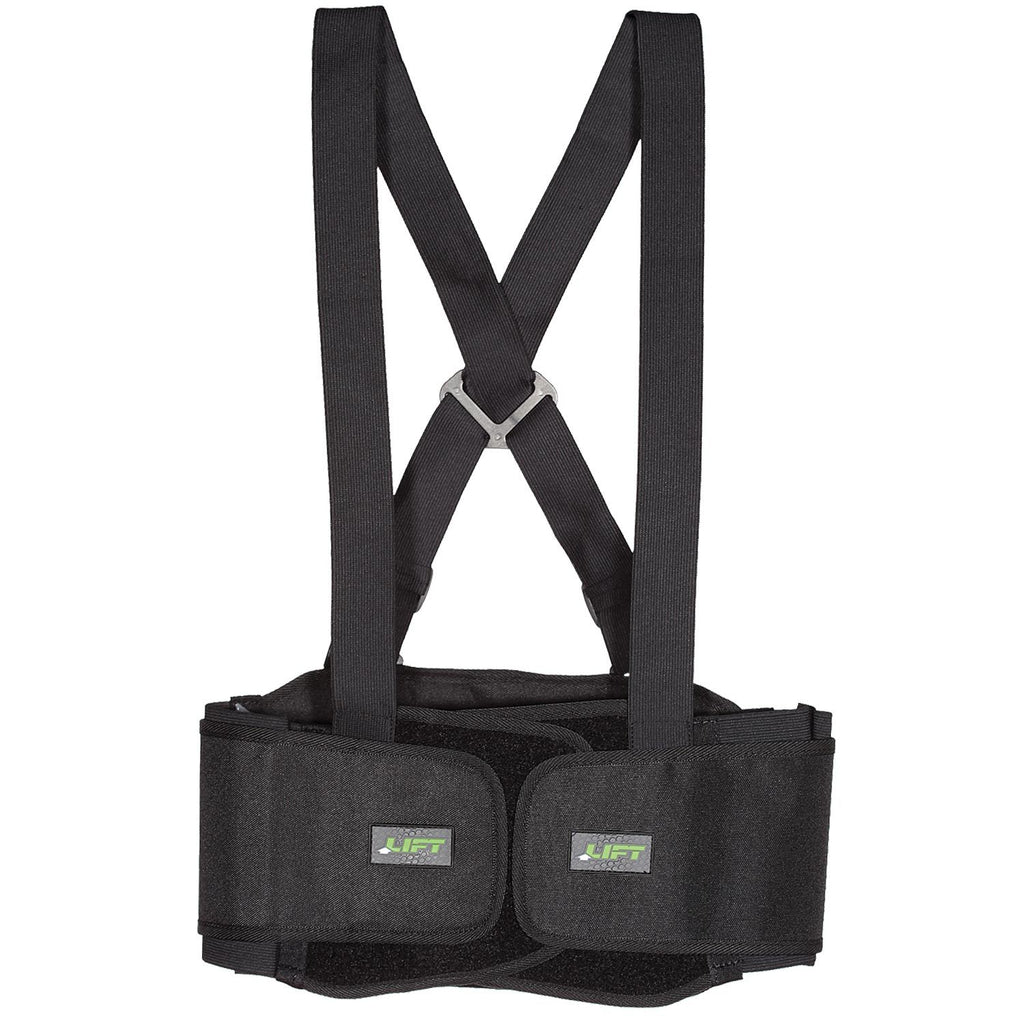 Lift Safety STRETCH Back Belt (Black) #BSH-6K