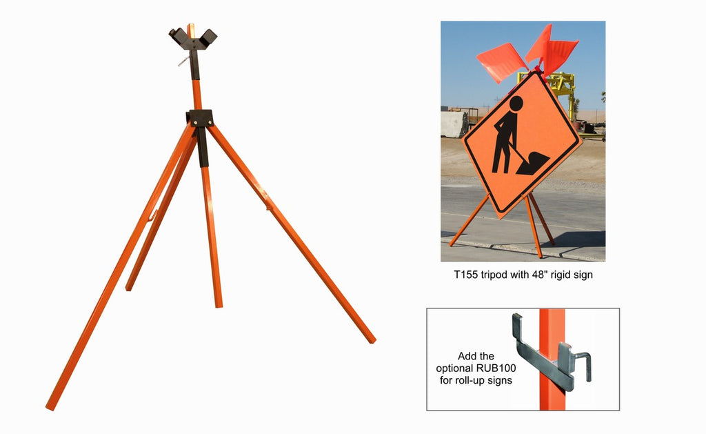 Tripod Stand for Rigid and Roll-Up Signs #T155