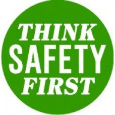 Think Safety First Hard Hat Sticker