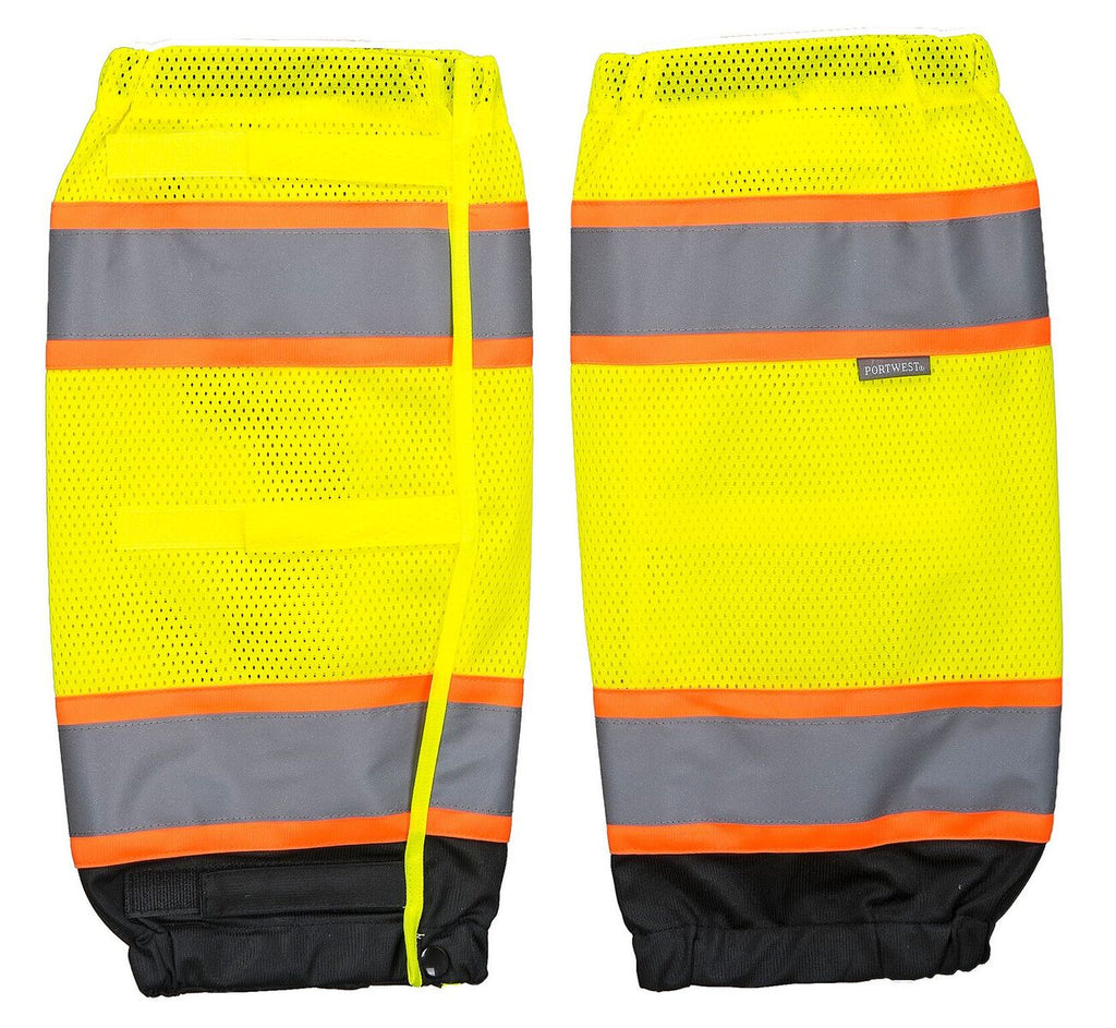 Portwest Hi Vis Leg Gaiters D.O.T. Striping