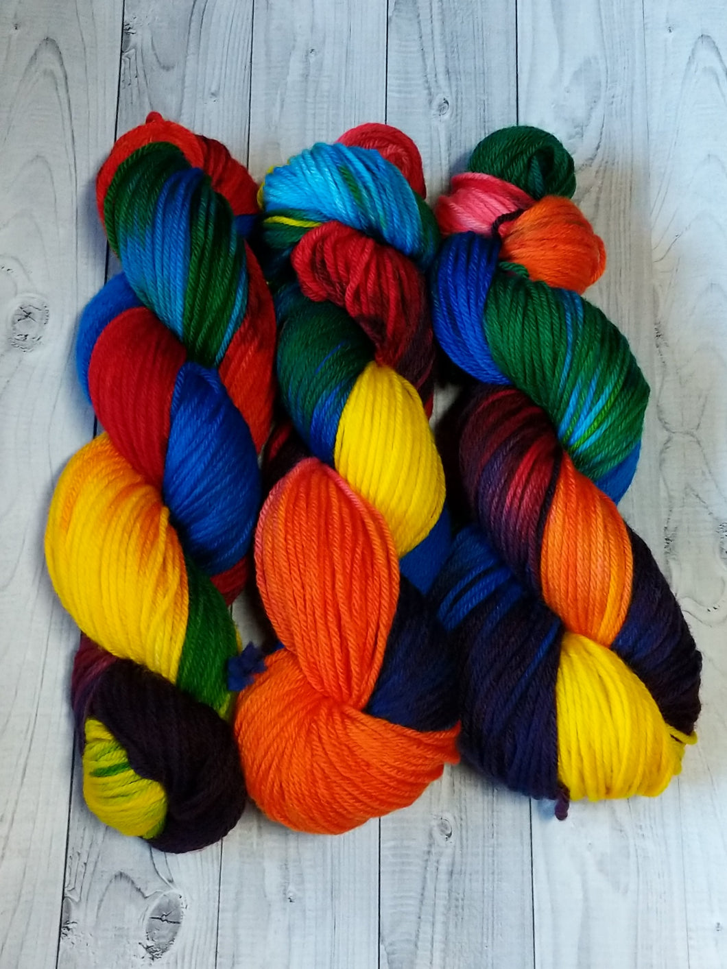 Rainbow Bright, Worsted Weight Merino
