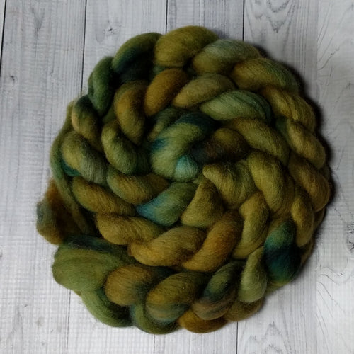 Actinolite, Polwarth Combed Top, Dyed to Order
