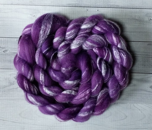Amethyst, Merino/Bamboo Top, 5 ounce, dyed to order