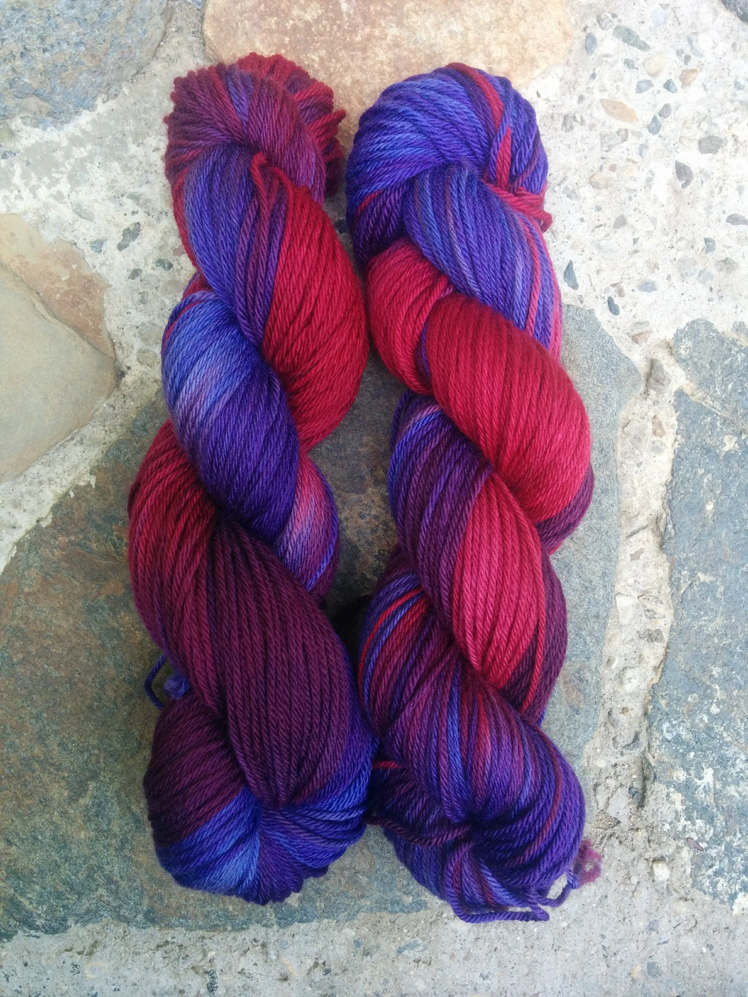 Amethyst & Rubies, Worsted Weight Merino,