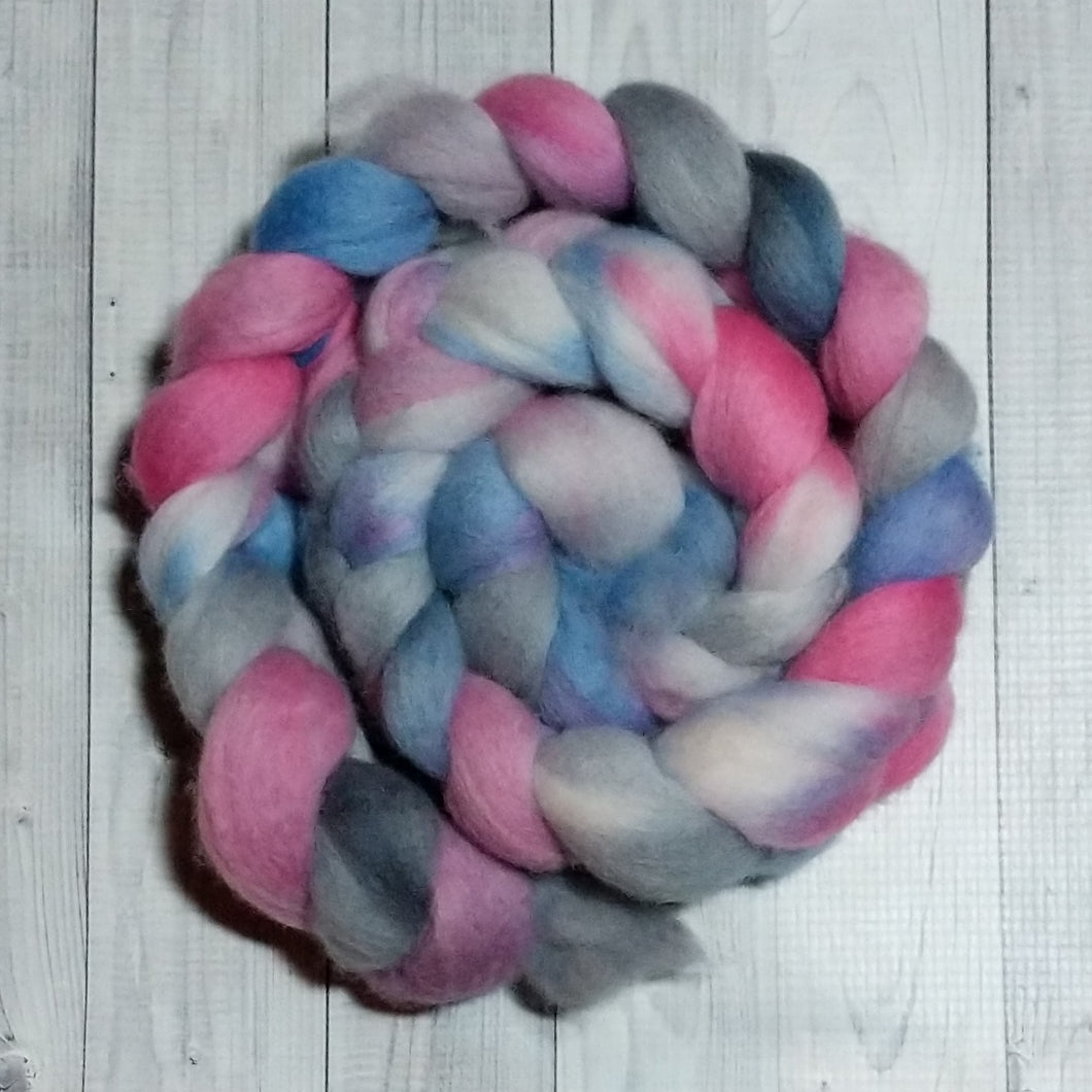 Cloud Creatures, Polwarth Combed Top, Dyed to order