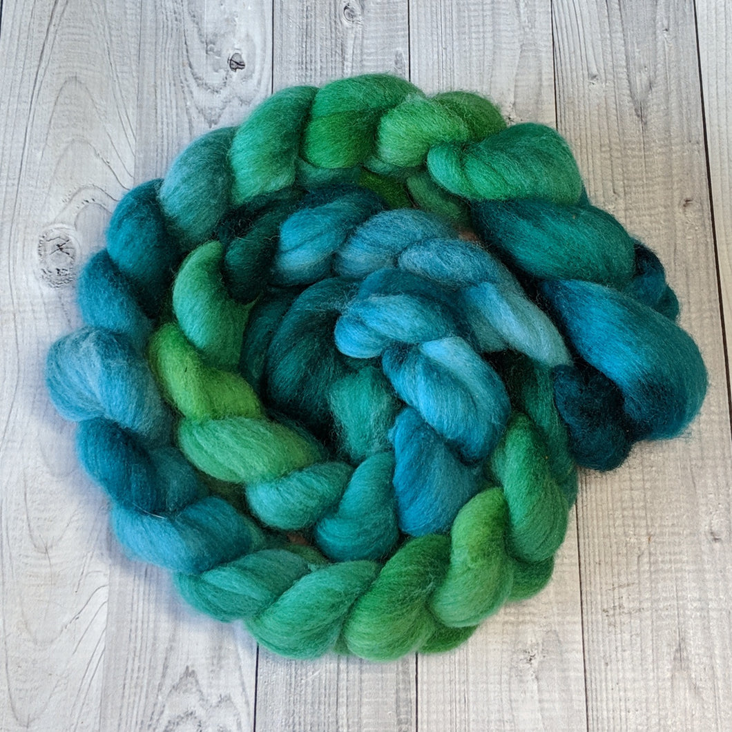 Emerald, Polwarth Combed Top