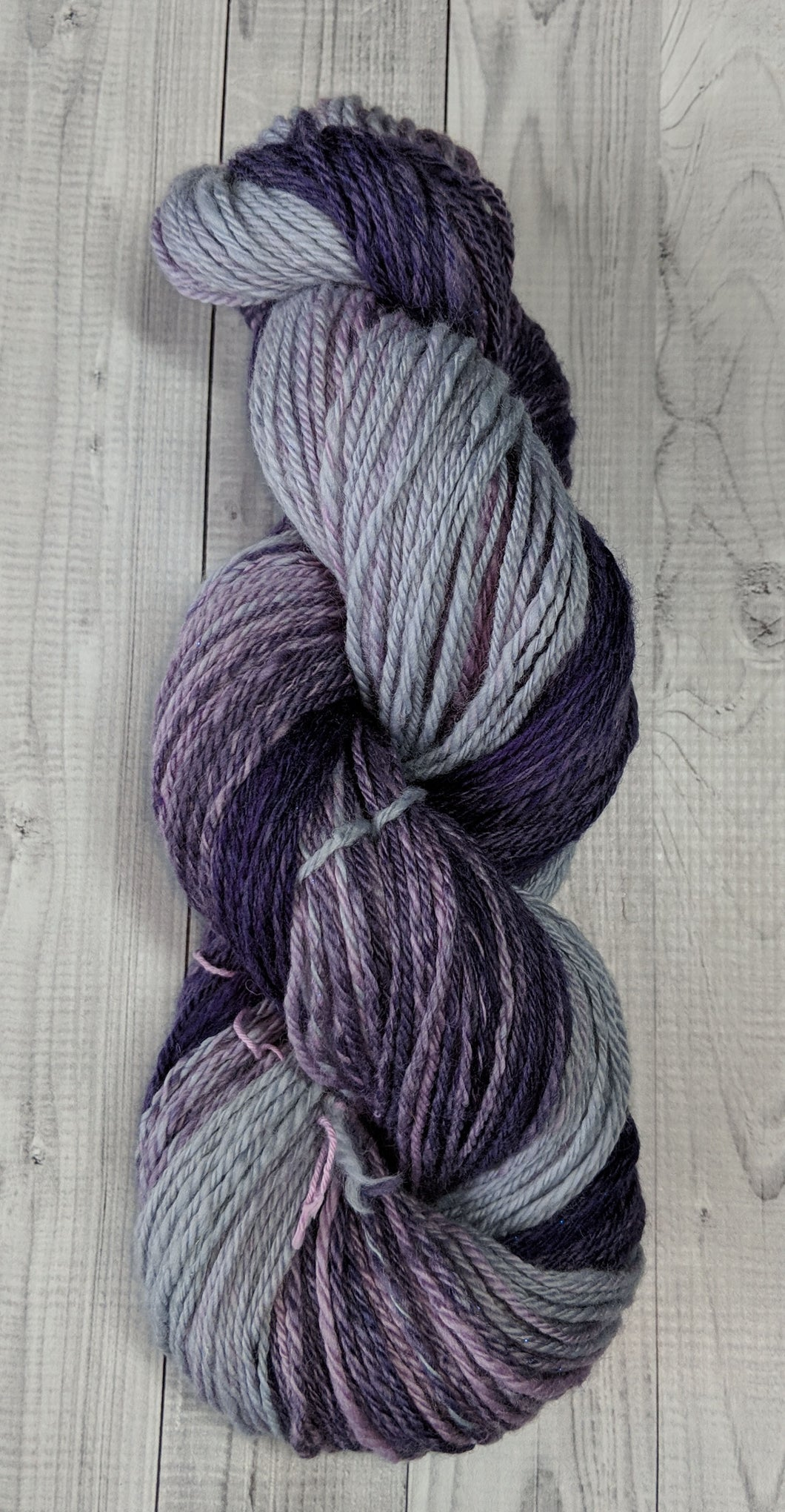 Grey to Purple Gradient, Hand Spun