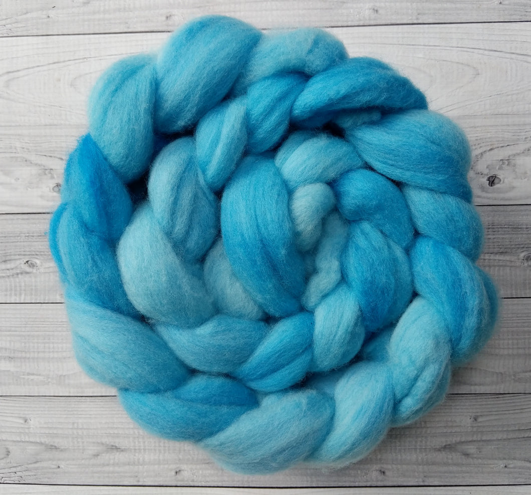 Light Turquoise, Polwarth Combed Top