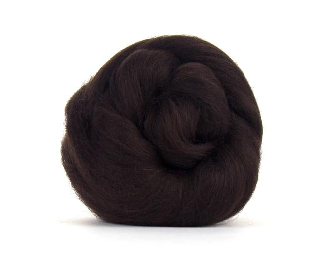 Mocha, Corriedale Combed Top