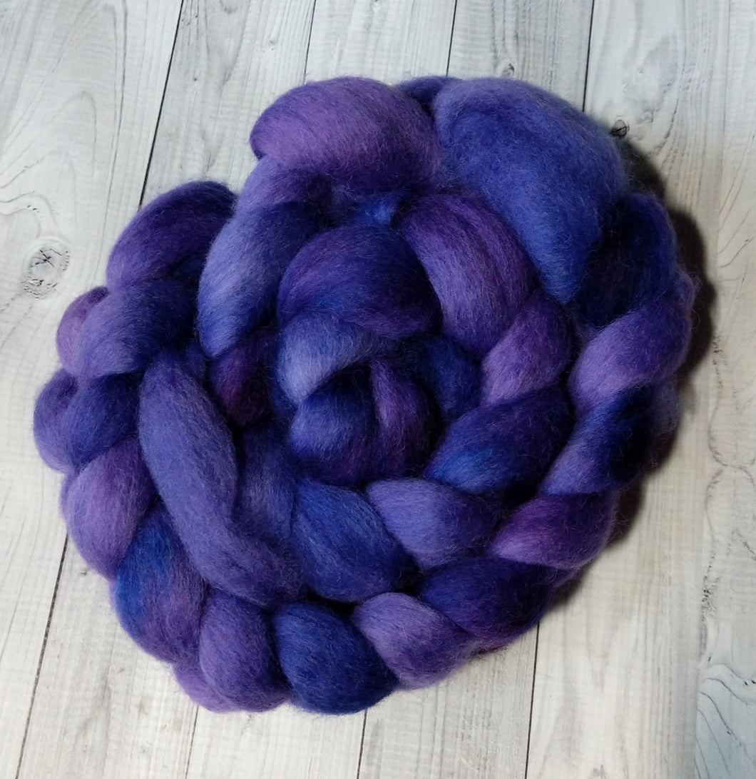Perfectly Purple, Corriedale Combed Top