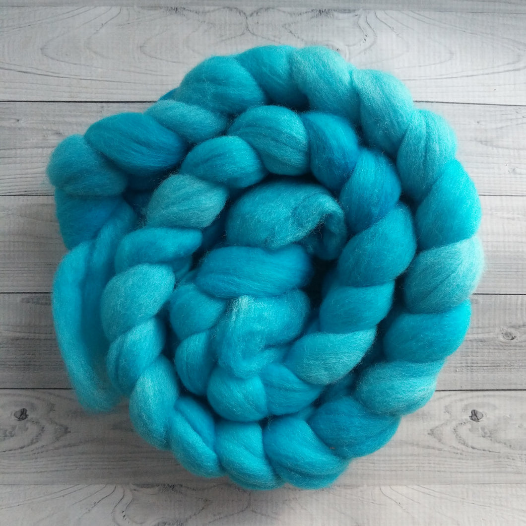 Turquoise, Polwarth Combed Top