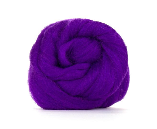 Violet, Corriedale Combed Top